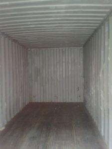 морской контейнер изнутри