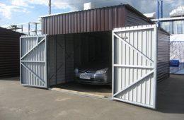 гараж из морского контейнера