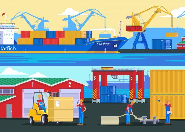 перевозка морских контейнеров